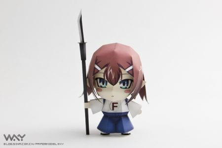 baka to test papercraft