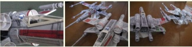 X-Wing Fighter 2nd Edition Papercraft
