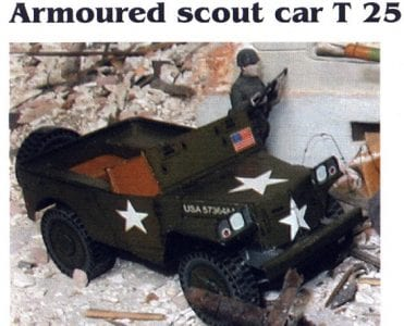 Armoured Scout Car T25 Paper Model