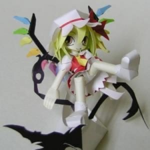 Touhou Project Flandre Scarletto Papercraft