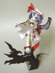 Touhou Project Remilia Scarlet Papercraft