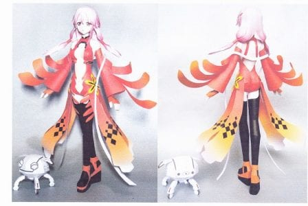 Inori Yuzuriha Guilty Crown Papercraft