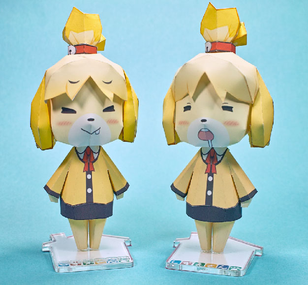 Animal Crossing Isabelle Shizue Papercraft