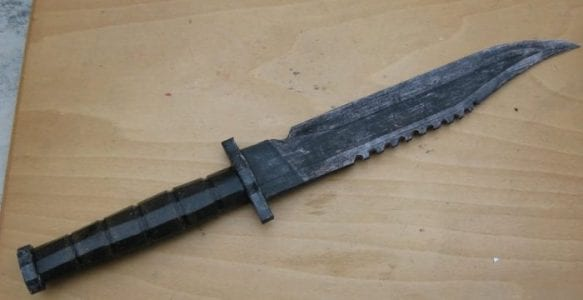 Fallout 3 Military Issue Combat Knife Papercraft