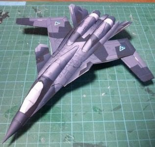X-02 Wivern Aircraft Paper Model