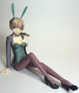 Strike Witches Bunny Lynette Bishop Papercraft