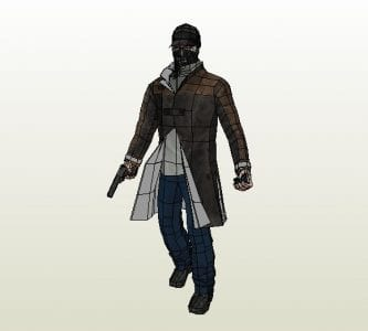 Watch Dogs Aiden Pearce Papercraft