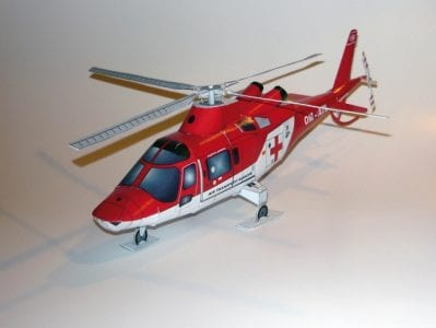 Helicopter Agusta A109 K2 Papercraft