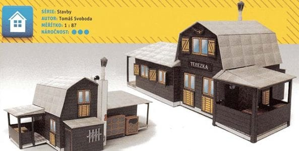 Chata Cottage paper craft