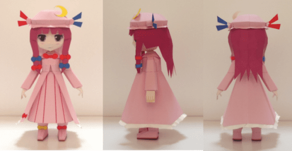 Touhou's Project Patchouli Knowledge paper craft
