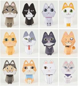 Purring Quest Cats Paper craft