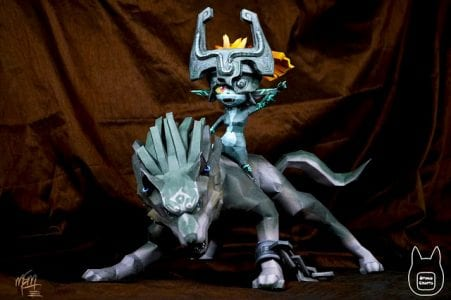 Wolf Link and Midna Paper craft