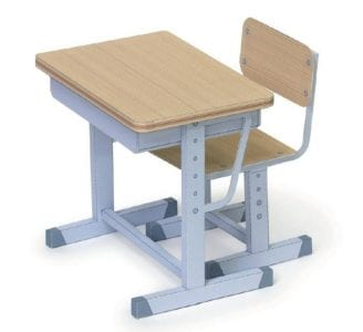 Japan School Desk and Chair Papercraft