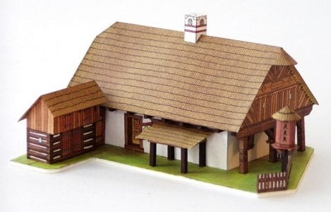Anime house paper craft
