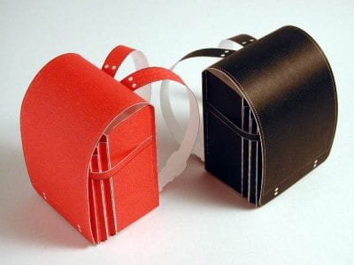 Black and Red School Bag Paper craft