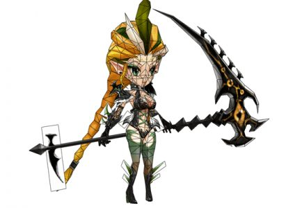 Summoners War Hell Lady Paper craft