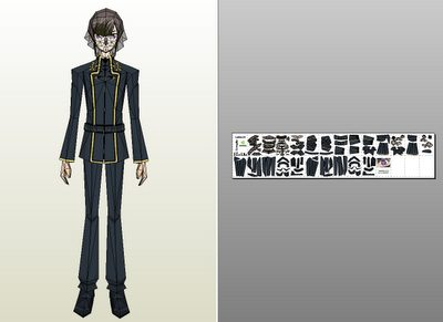 Lelouch Lamperouge Paper craft