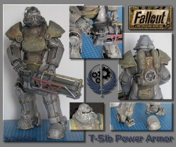 Fallout 4 T-51b Power Armored Paper craft