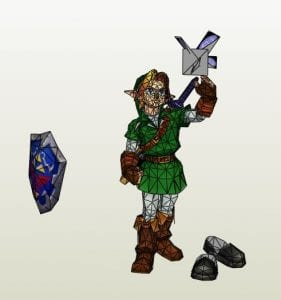 Link and Navi Paper craft