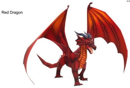 Red Dragon Paper craft