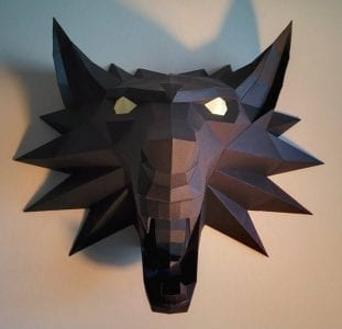 The Witcher Medallion Head Paper craft