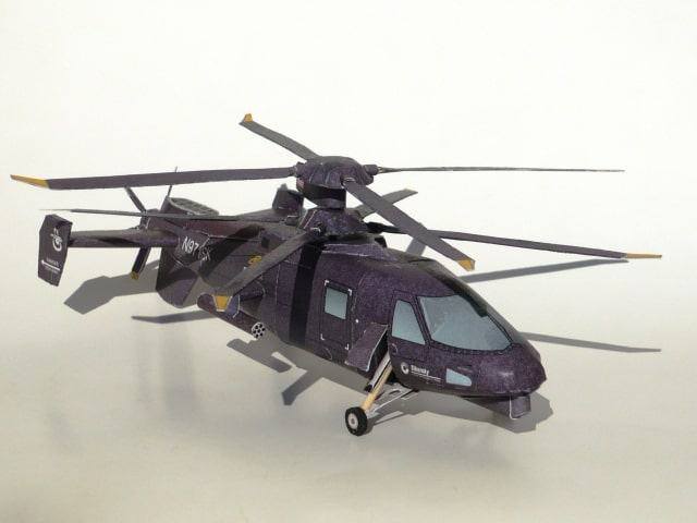 Sikorsky S-97 Raider Helicopter Paper craft