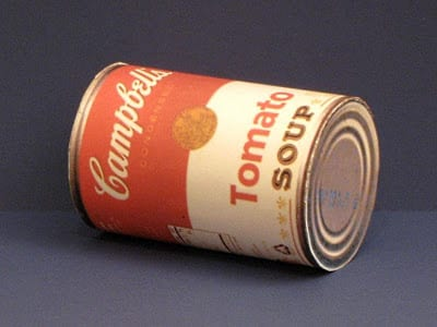 Campbell Soup Can Papercraft