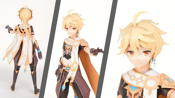 Aether Genshin Impact Paper craft